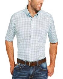 Ariat Men's Light Blue Freeport Print Shirt - Big and Tall, , hi-res