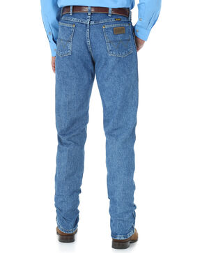 Wrangler Men's Blue George Strait Cowboy Cut Jeans - Straight Leg , Medium Blue, hi-res