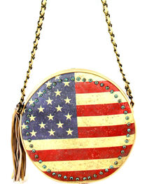 Montana West American Pride Round Shaped Shoulder Bag, Khaki, hi-res