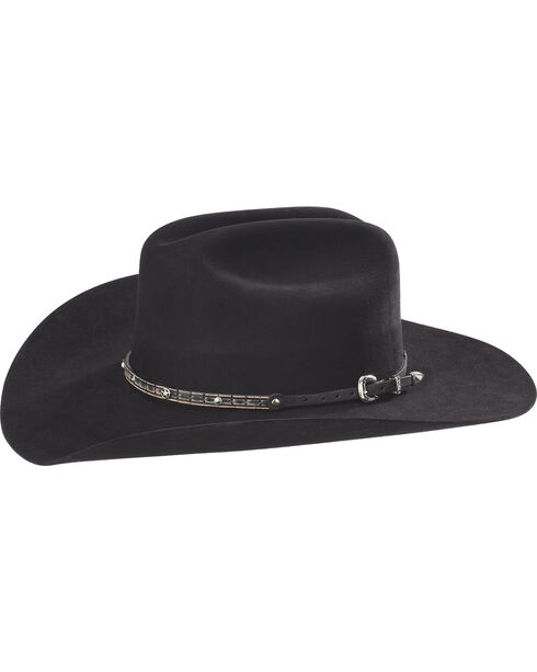 Phunky Horse Sheriff Star Leather Hat Band , Lt Brown, hi-res