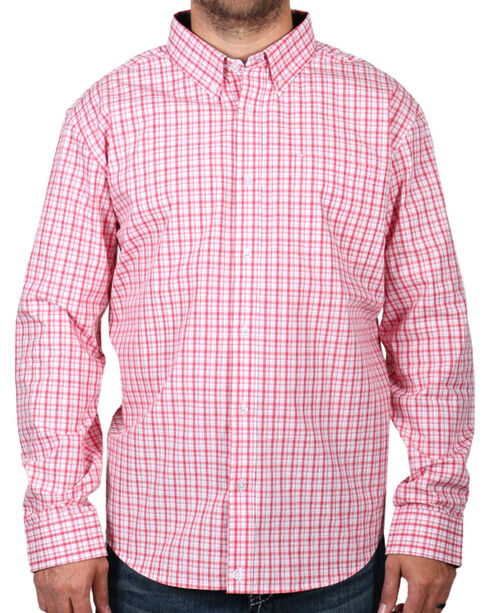 Cody James Men's Check Patterned Long Sleeve Shirt, Peach, hi-res