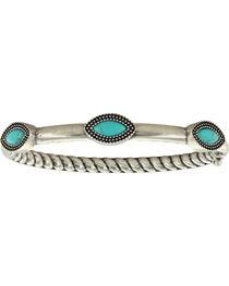 Montana Silversmiths Women's Three Marquise Hinged Bangle Attitude Bracelet, Silver, hi-res