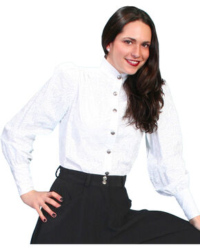 WahMaker by Scully Old West Blouse, White, hi-res