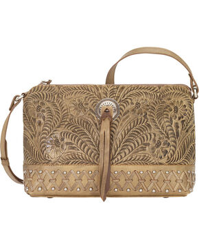 Bandana by American West Women's Dove Canyon Crossbody Bag , Sand, hi-res