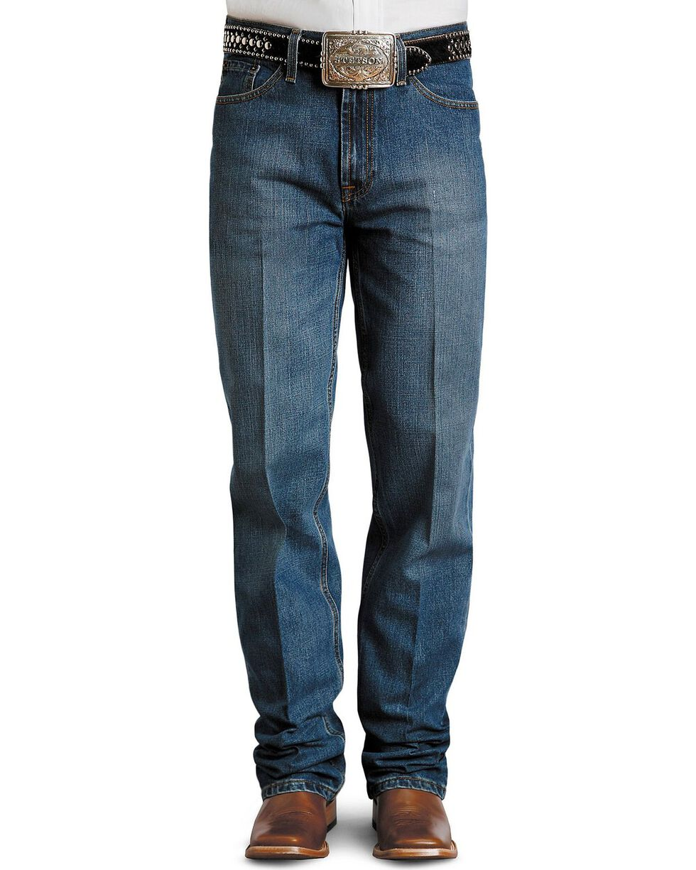Stetson Men's Premium Standard Fit Boot Cut Jeans, Stonewash, hi-res