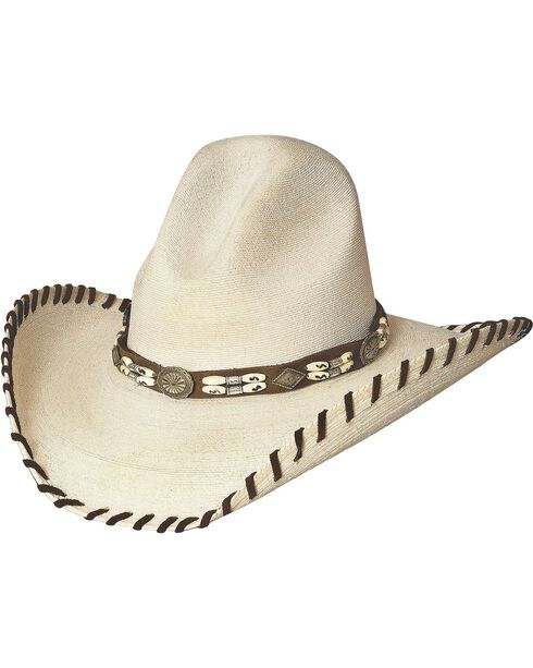 Bullhide Women's The Last Chief Straw Hat, Natural, hi-res