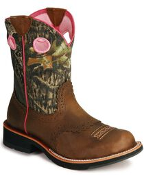 Ariat Women's Fatbaby Camo Western Boots, , hi-res