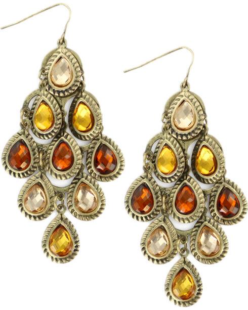 Shyanne® Women's Teardrop Chandelier Earrings, Multi, hi-res