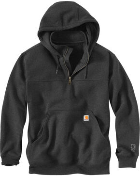 Carhartt Rain Defender Paxton Hooded Zip Mock Sweatshirt - Big & Tall, Charcoal, hi-res