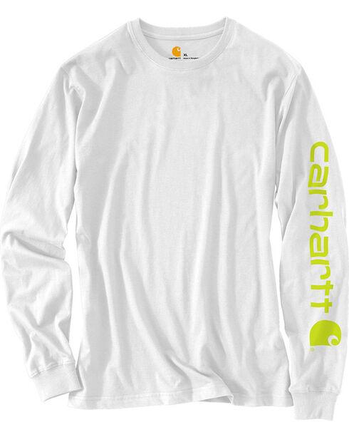 Carhartt Men's Signature Graphic Logo T-Shirt, White, hi-res