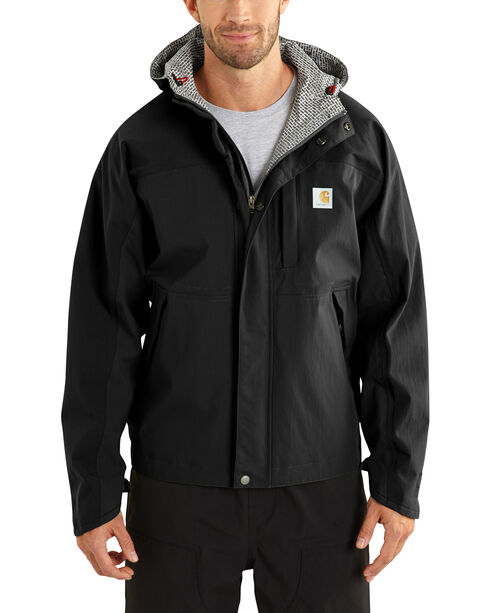 Carhartt Men's Shoreline Vapor Waterproof Jacket - Big & Tall, Black, hi-res