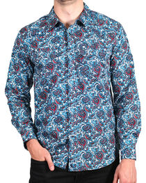 Cody James® Men's Paisley Printed Long Sleeve Shirt, , hi-res