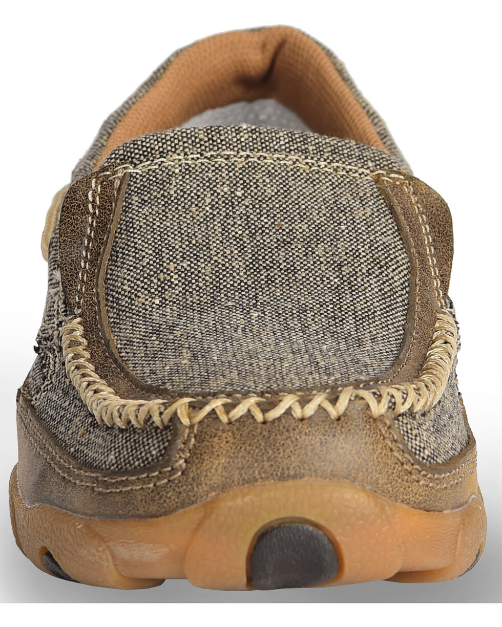 Twisted X Women's ECO TWX Slip-On Driving Moccasins - Moc Toe, Brown, hi-res
