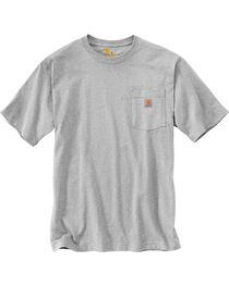 Carhartt Men's Grey Workwear Graphic Branded 'C' Pocket Short-Sleeve T-Shirt, , hi-res