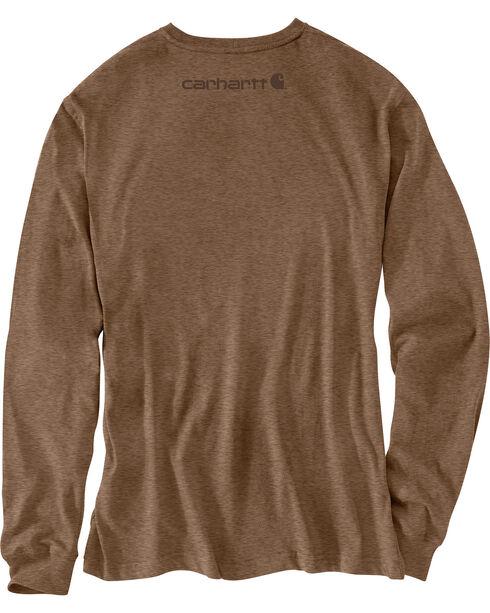 Carhartt Signature Logo Sleeve Knit T-Shirt - Big & Tall, Brown, hi-res