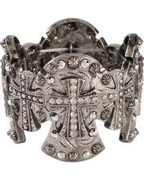 Blazin Roxx Cross Concho Stretch Bracelet, , hi-res