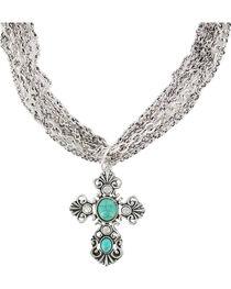 Shyanne® Women's Multi Chain Cross Necklace, , hi-res
