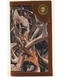 Ariat Camo Shotgun Shell Rodeo Wallet, , hi-res