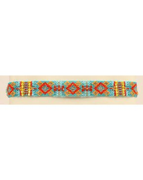 Blazin Roxx Beaded Southwest Headband, Turquoise, hi-res