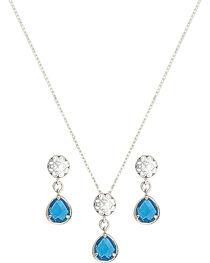 Montana Silversmiths Women's Blue Dangle Jewelry Set, , hi-res