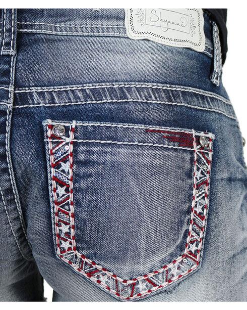 Shyanne® Women's Americana Cutoff Shorts, Blue, hi-res