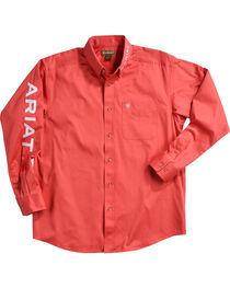 Ariat Men's Solid Casual Classic Twill Logo Shirt, , hi-res