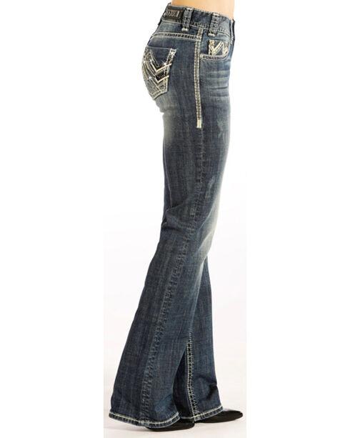 Rock & Roll Cowgirl Women's Indigo Zig Zag Jeans - Boot Cut , Indigo, hi-res