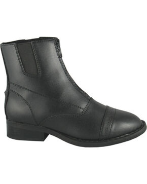 Smoky Mountain Youth Zipper Paddock Boots, Black, hi-res