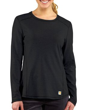 Carhartt Force Long Sleeve Top, Black, hi-res