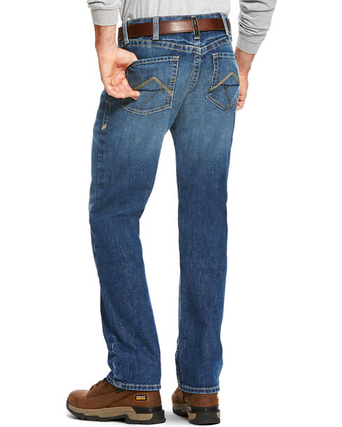 Ariat Men's FR M3 Stitched Incline Loose Fit Jeans - Straight Leg, Grey, hi-res