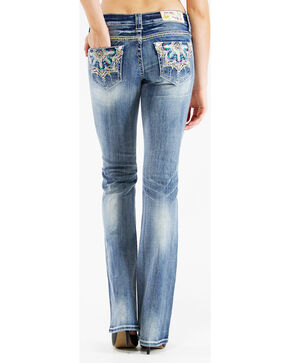 Grace in L.A. Women's Medallion Bootcut Jeans, Denim, hi-res