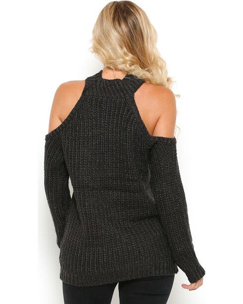 Illa Illa Women's Charcoal Cold Shoulder Shoulder , Charcoal, hi-res