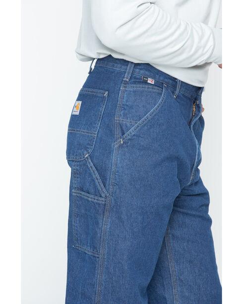 Carhartt Men's Flame-Resistant Denim Dungaree Work Pants, Denim, hi-res