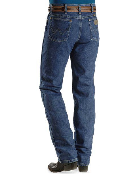 George Strait Wrangler Men's Slim Fit Western Jeans, Denim, hi-res