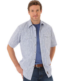 Wrangler Men's Multi Top Stitching Plaid Short Sleeve Shirt, , hi-res