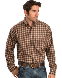 Ariat Work FR Men's Plaid Long Sleeve Flame Resistant Work Shirt, , hi-res