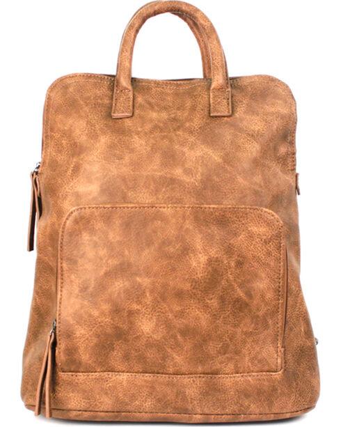 Treska Tan Distressed Backpack, Tan, hi-res