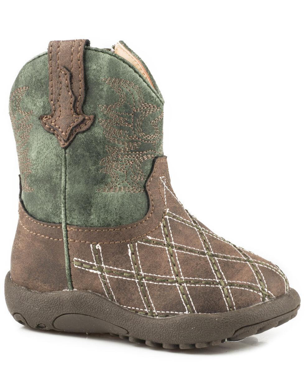 Roper Infant Boys' Cross Cut Cowbabies Boots, Brown, hi-res