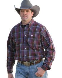 Cinch Men's Plaid Button Down Long Sleeve Shirt, , hi-res