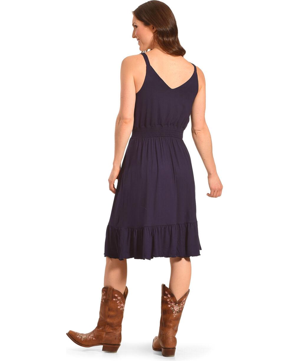 Harlow & Rose Women's Evening Blue Lace Blouson Dress , Blue, hi-res