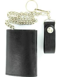 Tri-Fold Trucker Wallet with Chain, , hi-res
