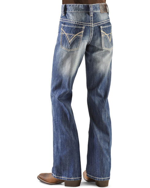 Rock & Roll Denim Boy's BB Gun Boot Cut Jeans, Denim, hi-res