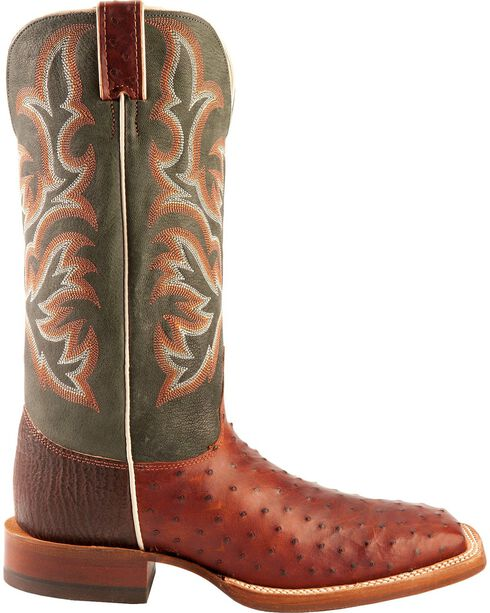 Justin Men's Full Quill Ostrich Boots, Brandy, hi-res