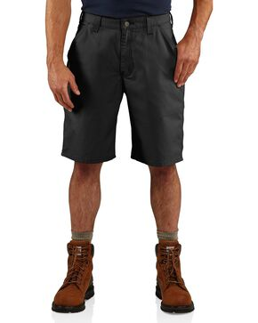 Carhartt Men's Iconic Canvas Work Shorts, Black, hi-res