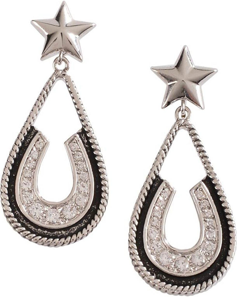 Montana Silversmiths Vintage Charm Pony Trekker Earrings, Silver, hi-res