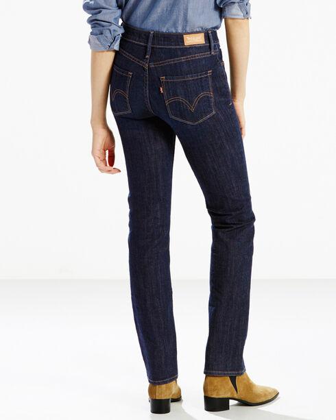 Levi's Women's Indigo 525 Perfect Waist Jeans - Straight Leg , Indigo, hi-res