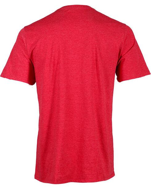 Hurley Men's Ombre Logo Tee, Red, hi-res
