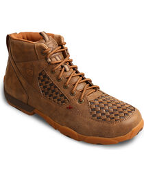 Twisted X Men's Leather Driving Moc Casual Shoes, , hi-res