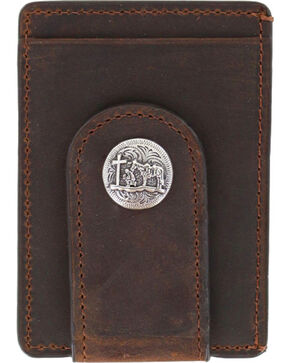 Cody James® Men's Praying Cowboy Money Clip, Brown, hi-res