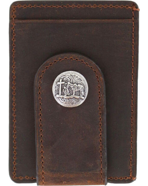 Cody James® Men's Praying Cowboy Money Clip, Brown, hi-res